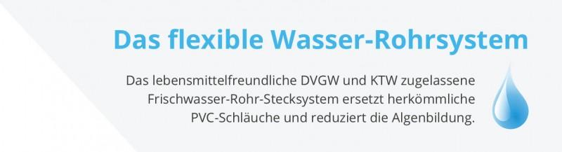 Das flexible Wasser-Rohrsystem - Wasserleitung - BG hellgrau