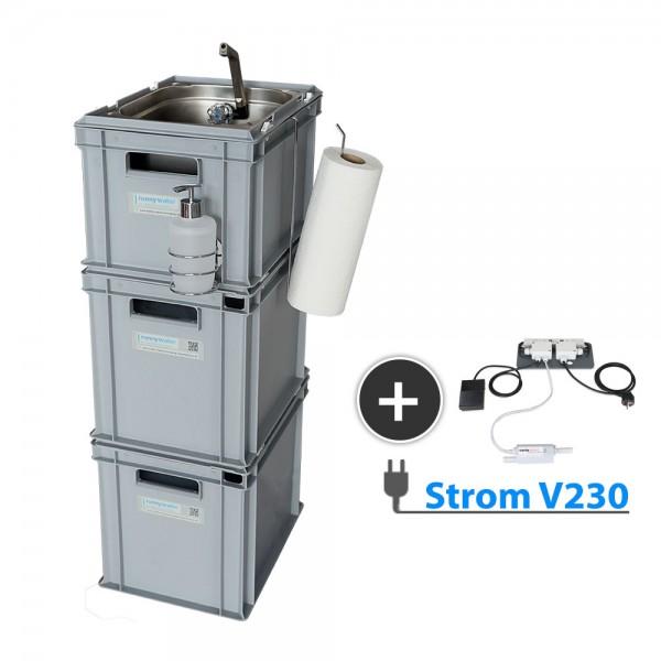 mobile Wasserversorgung 230 V Betreib mit Zubehör