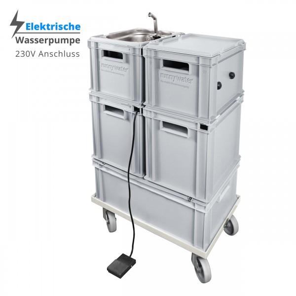 Mobile Hygienestation 23 Liter - Warmwasser / elektrische Wasserpumpe 230V