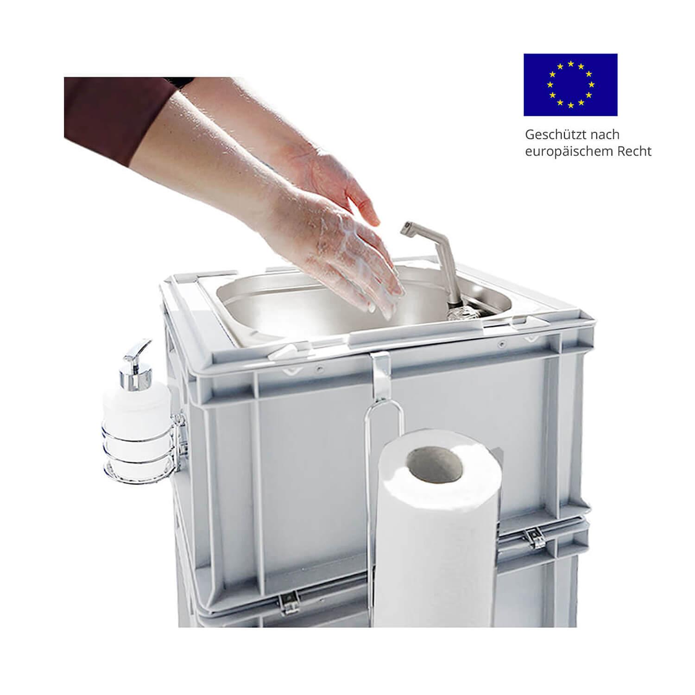 Mobile Frischwasserstationen und Wasseranlagen - Hygienestationen mit Waschbecken