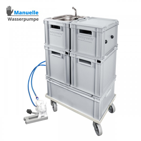 Mobile Hygienestation 23 Liter - Warmwasser / manuelle Wasserpumpe