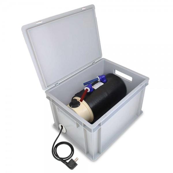 Heißwasser Boiler 230V in Eurobox einsetzbereit
